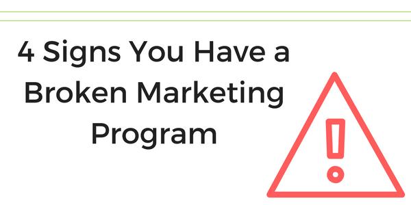 broken marketing program signs